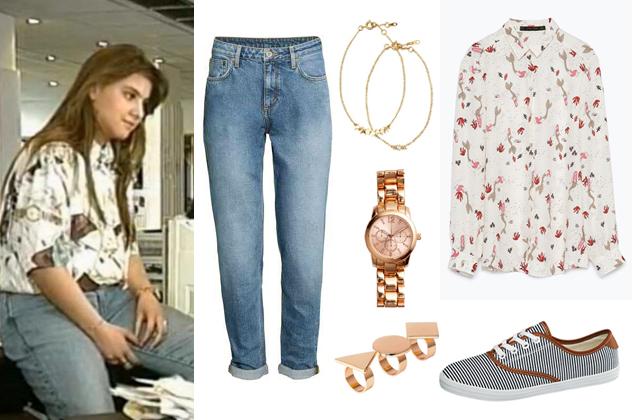 Blúz: Zara, nadrág, óra, karkötők, gyűrűk: H&M, cipő: Deichmann