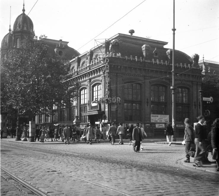 Teréz (Lenin) körút, Nyugati pályaudvar, étterem 1949/  UVATERV