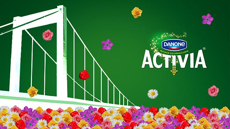 A Danone Activia bemutatja: Magyarország legnagyobb, elvihető virágszőnyege