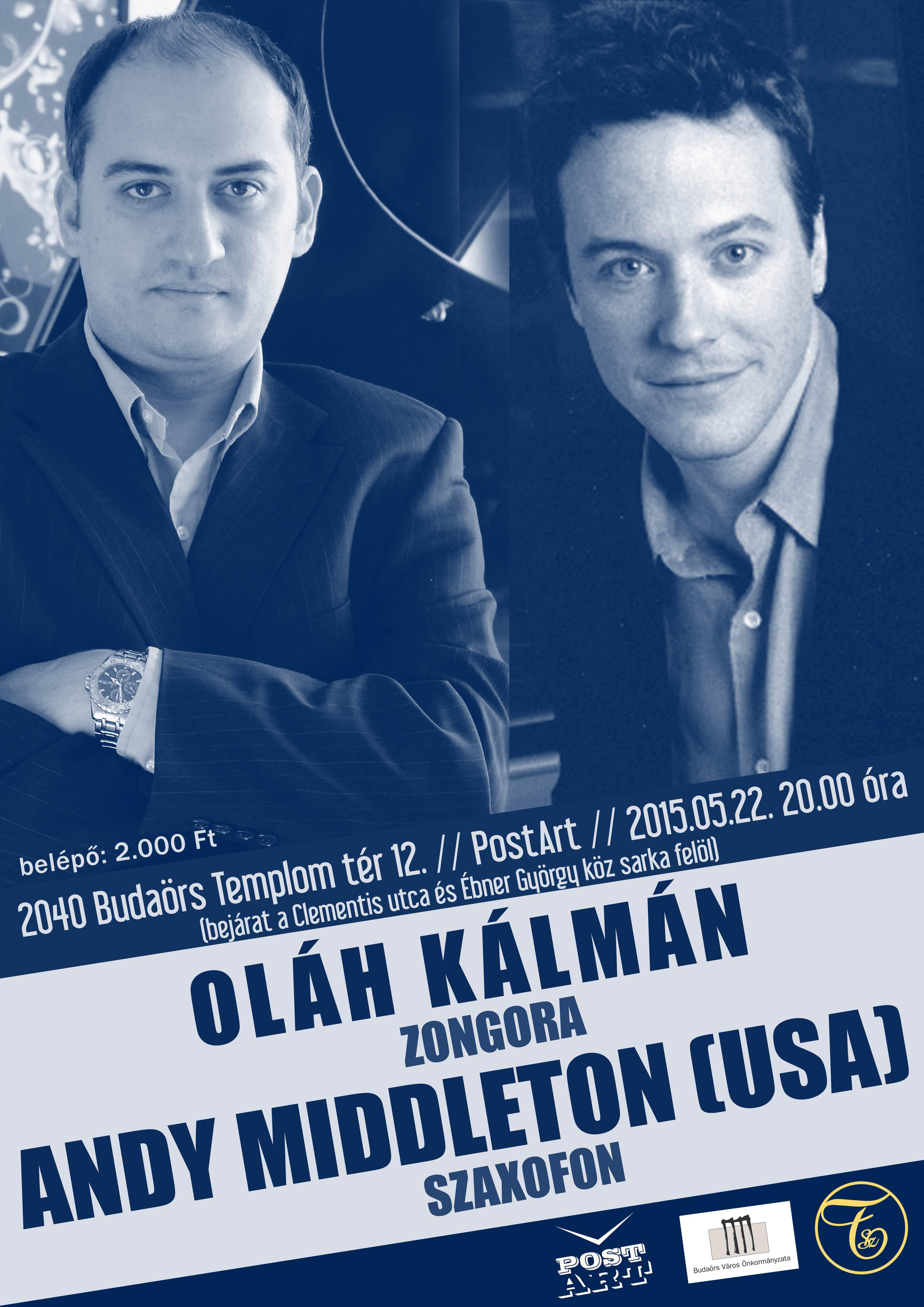 Oláh Kálmán a világ legjobb szaxofonosával koncertezik