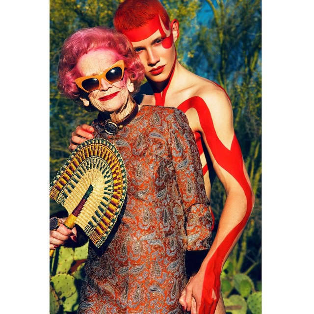 Sztár lett az Instagramon a bevállalós divatnagyi - képek
