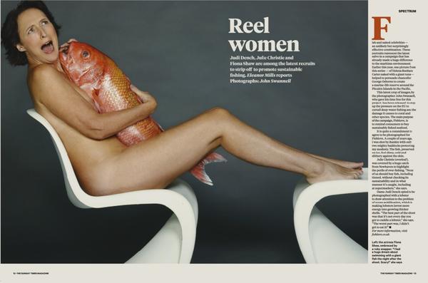Meztelenül kampányol a 80 éves Judi Dench a kolléganőivel - fotók