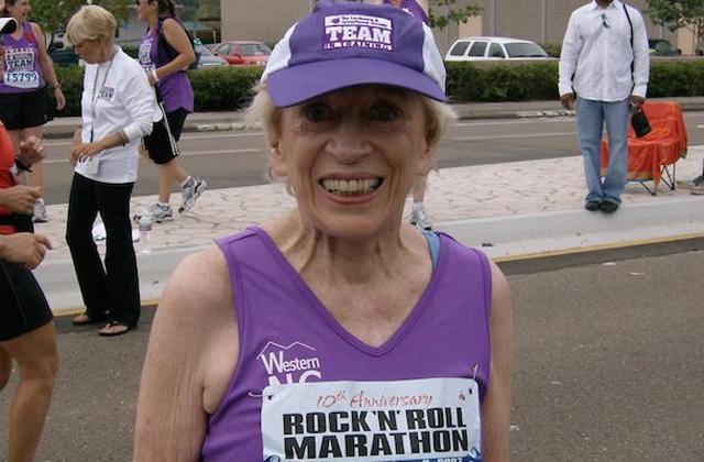 Lefutotta a maratont egy 92 éves nő