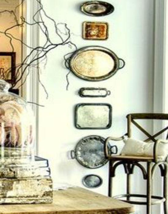 Ha már nincs szükség a kopott, eloxidálódott tálcára, falidisznek még jól jöhetnek. Fotó: pinterest.com
