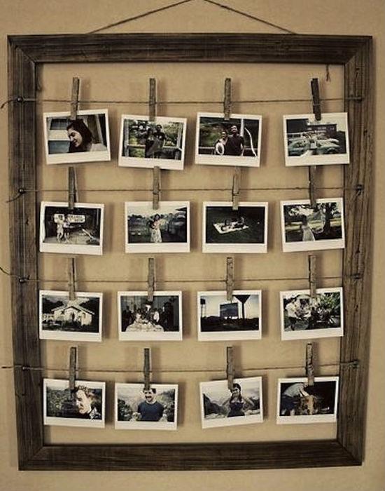 Ruhacsipesz, szárítókötél és egy képkeret. Nem is kell jobb hely az emlékeknek. Fotó: buzzfeed.com