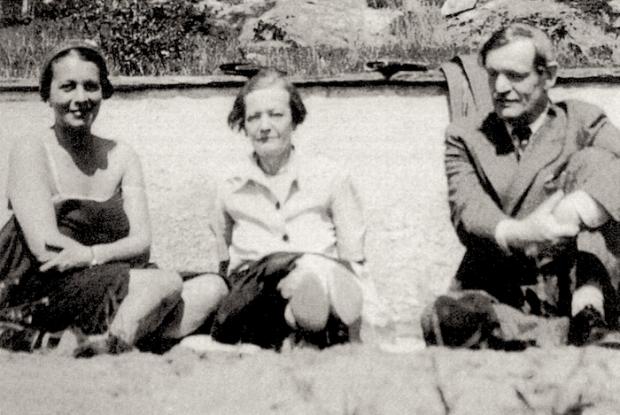 Böhm Aranka, Karinthy Gizi, és Karinthy Frigyes