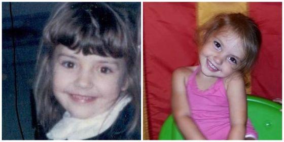 Ugyanúgy néznek ki a kislányok, mint gyerekként az anyukájuk - fotók