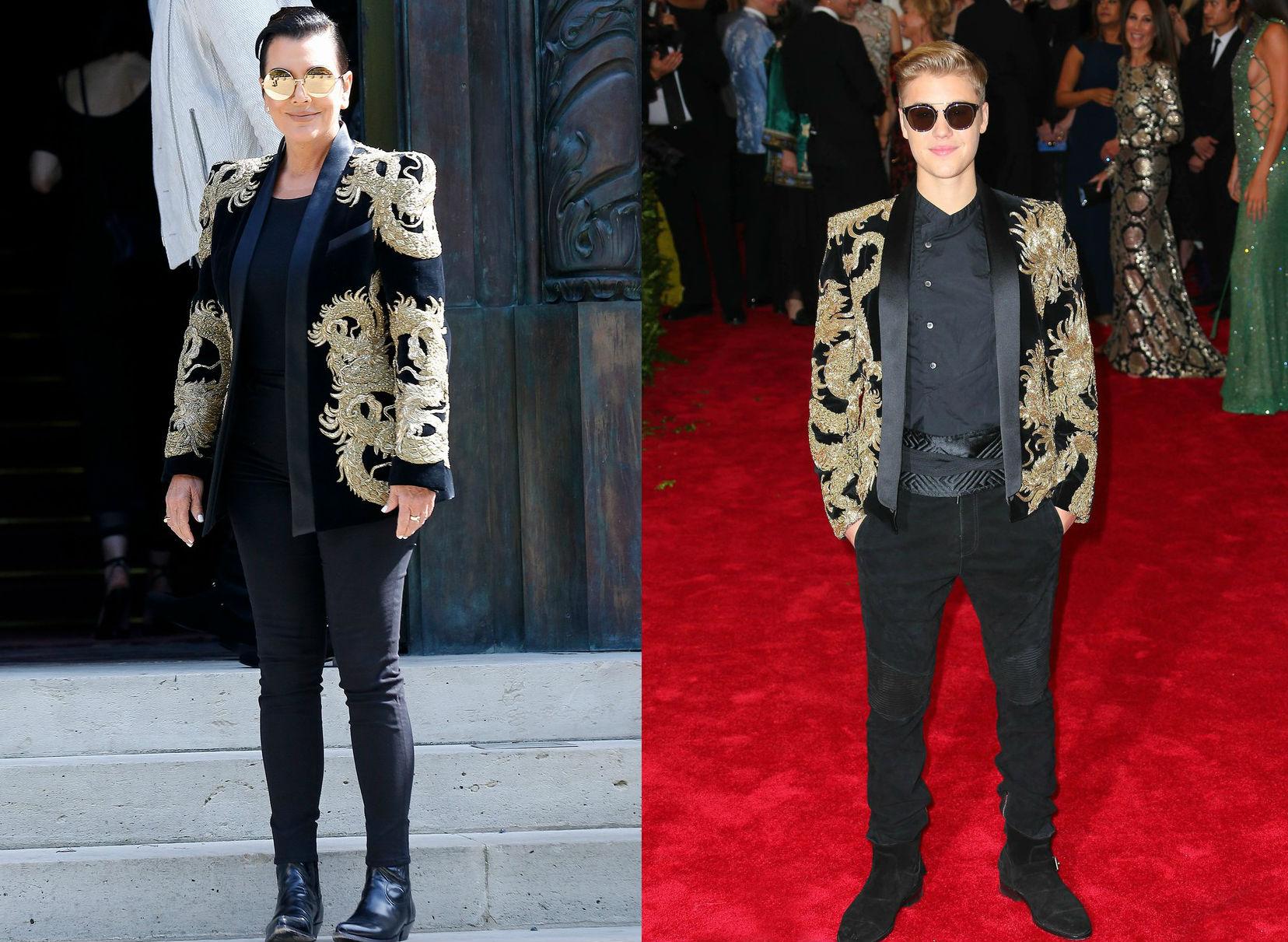 Csodálatos divatbaki: Justin Biebernek öltözött Kris Jenner