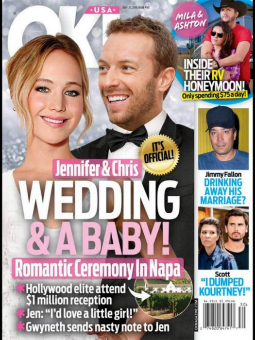 Csapó négy : Jennifer Lawrence igent mondott Chris Martinnak
