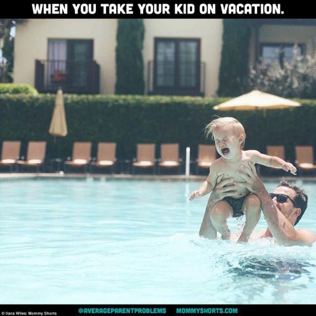 Amikor nyaralni viszed a gyermeked.