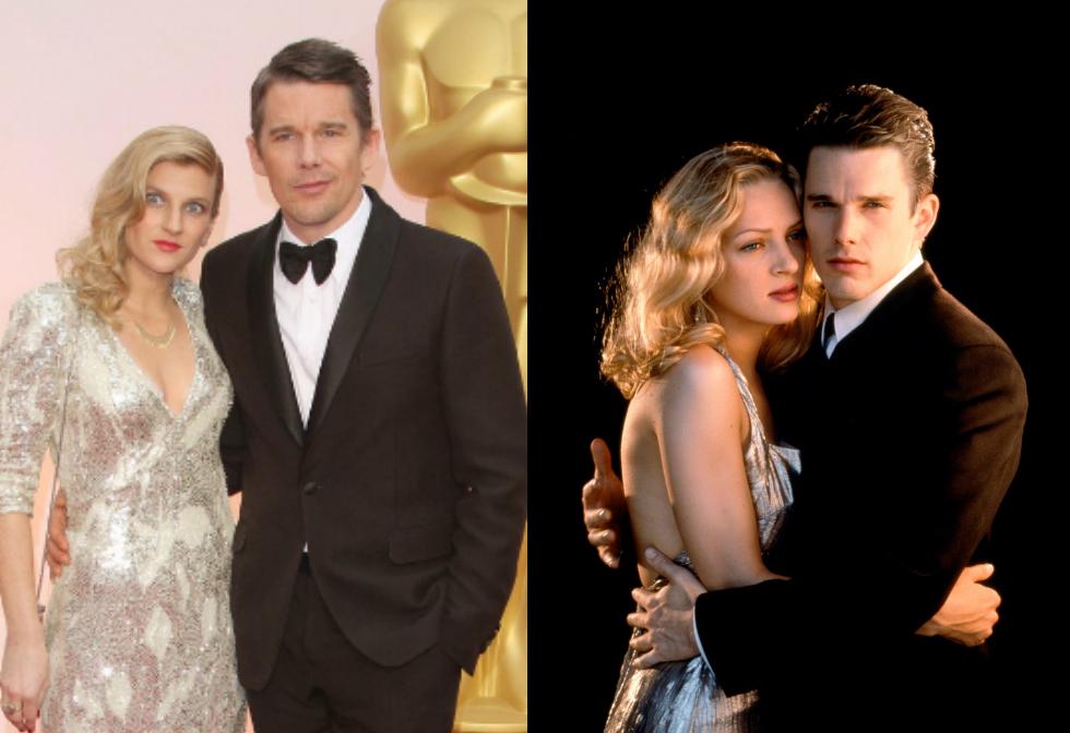 Ryan sokban hasonlít a színész első feleségéhez, Uma Thurmanhez