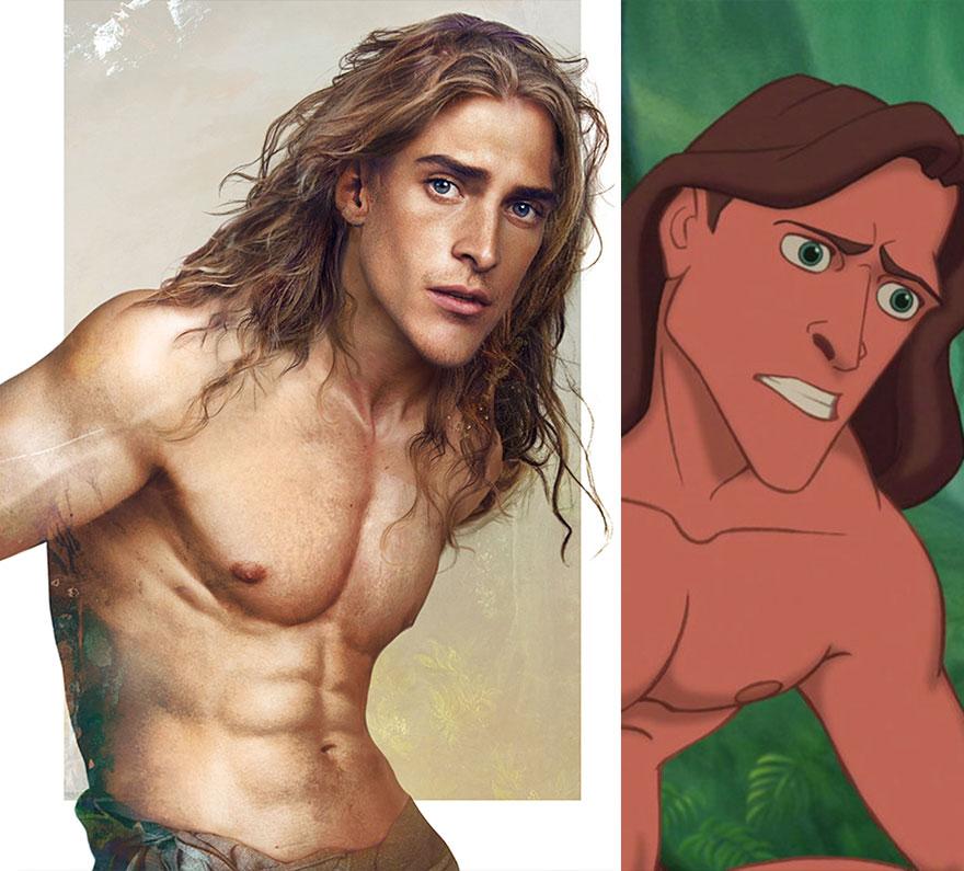 Ilyenek lennének a Disney-hercegek a valóságban - képek