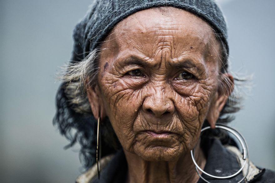 Idős asszony Vietnamból