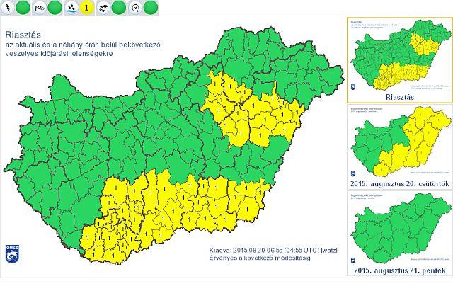 Változékony idő várható a négynapos hosszú hétvégén - forrás: met.hu