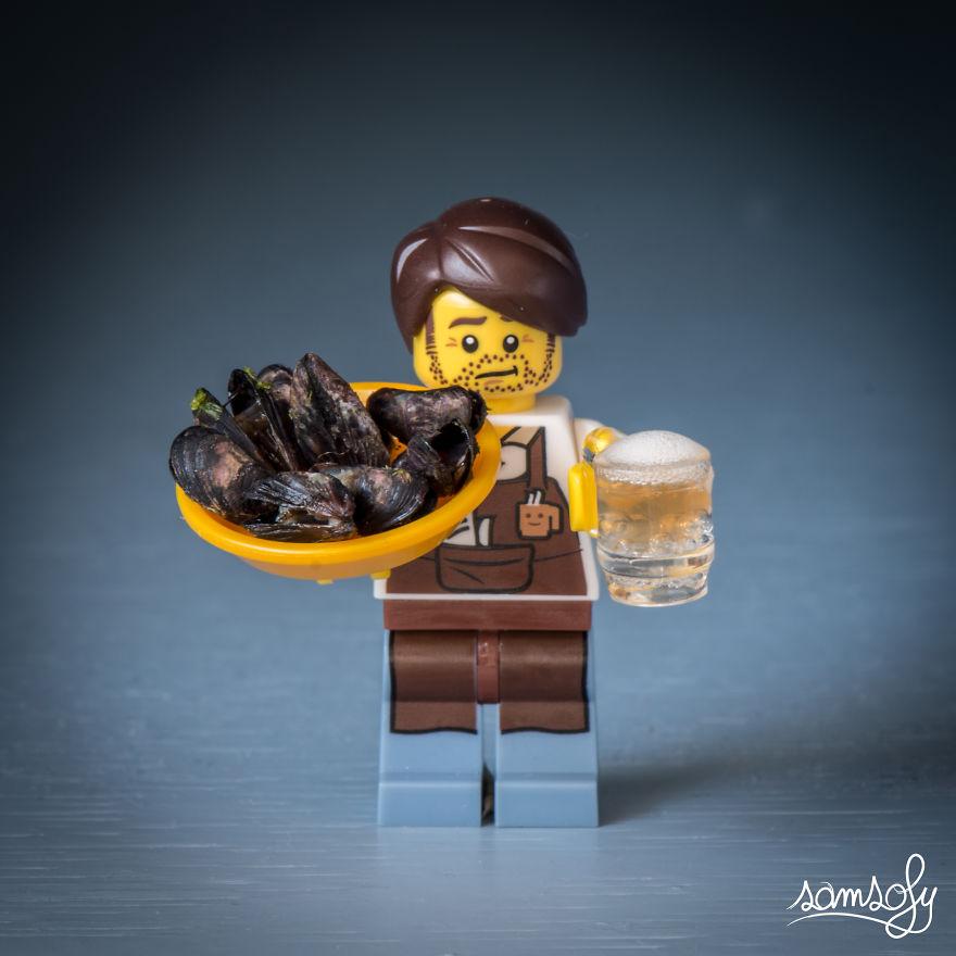 Kagyló sörrel, tálalva!