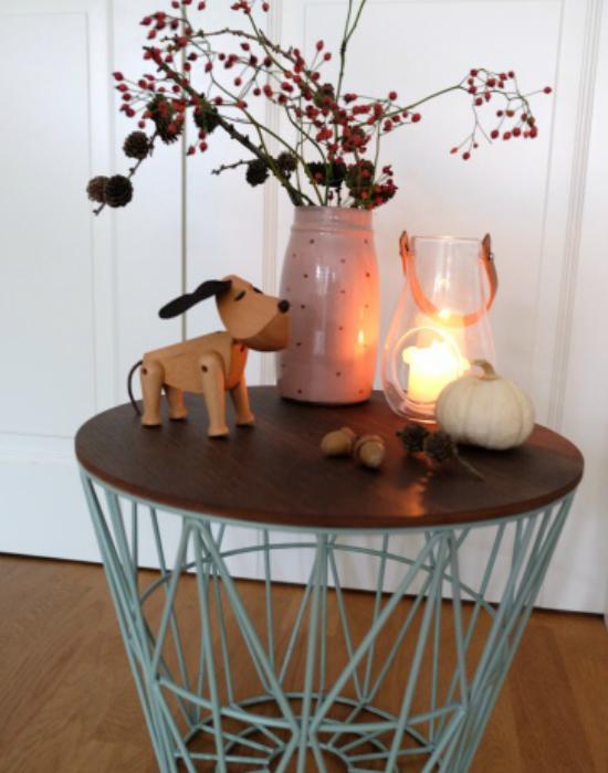 Egy barátságos őszi asztali dekor