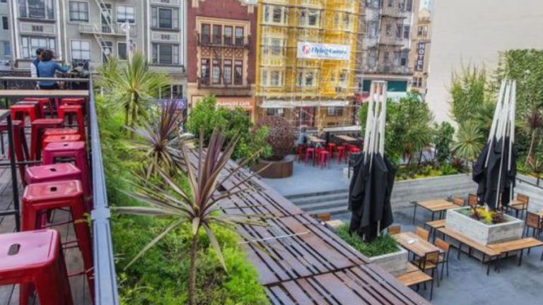 San Francisco bámulatos tetőkertjei