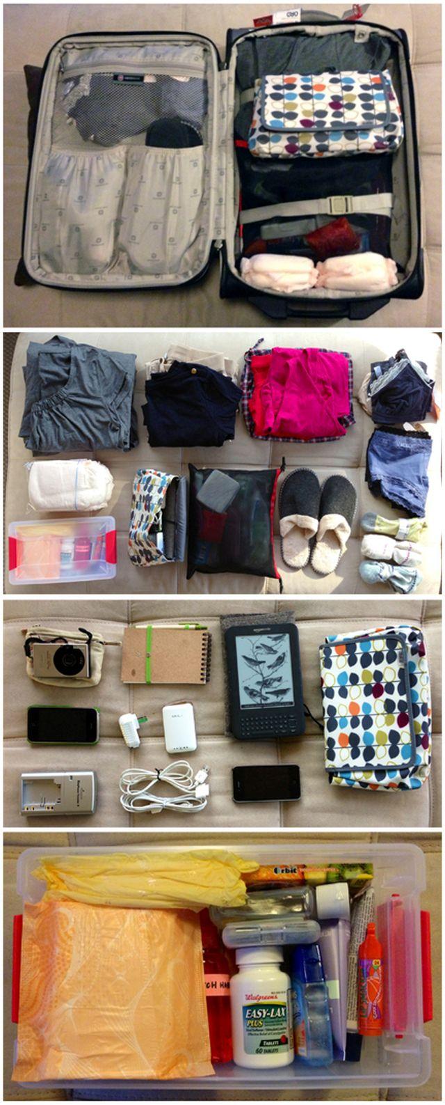 Mi legyen a kórházi táskádban, amikor szülni mész? - Részletes lista