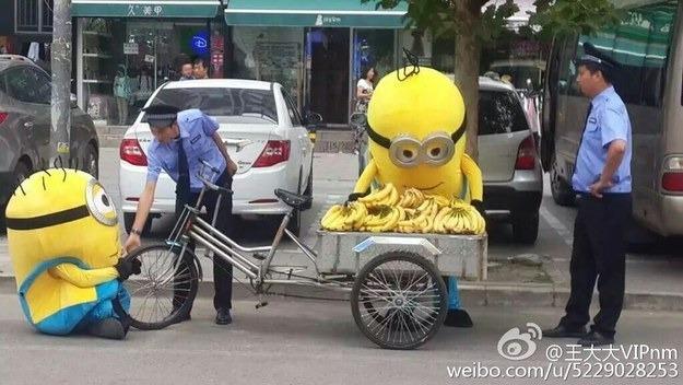Minyonok árultak banánt Kínában