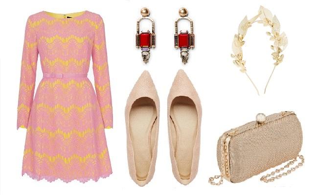 Ruha: French Connection, cipő, hajdísz: ASOS, táska: Parfois, fülbevaló: Mango