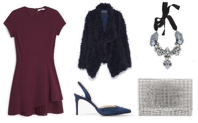 Ruha, cipő: Mango. szőrmekabát: Zara, táska: Parfois, nyaklánc: Rienne