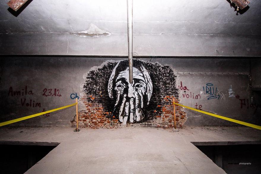 Ez a művész csodás galériává változtatott egy elhagyatott gyárat