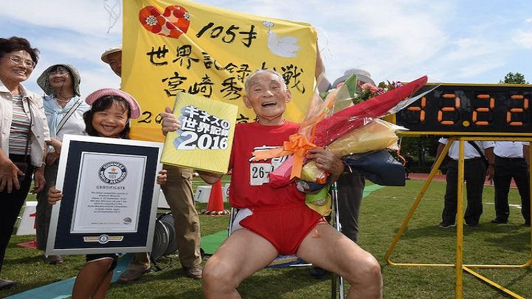 Sprintrekorddal ünnepelte105. születésnapját