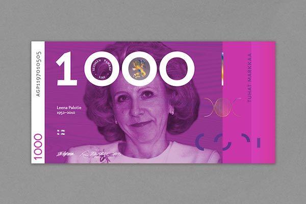 Gender-semleges bankjegyeket tervezett egy finn designer