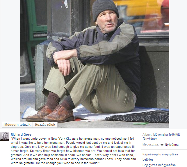 Richard Gere hajléktalanként robbantja fel az internetet