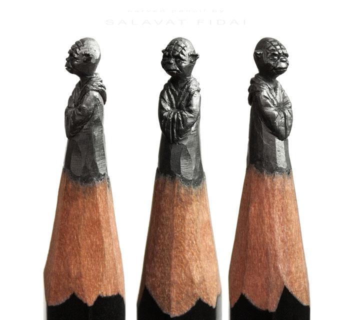Miniatűr filmhősök a ceruza végén
