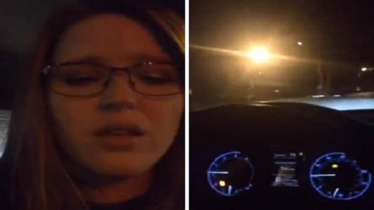 Élőben közvetítette részeg vezetését a fiatal lány - videó