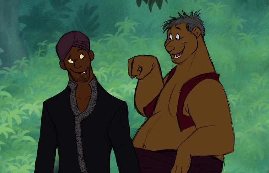 Hogyan néznének ki a Disney rajzfilmek állati hősei, ha emberek lennének?