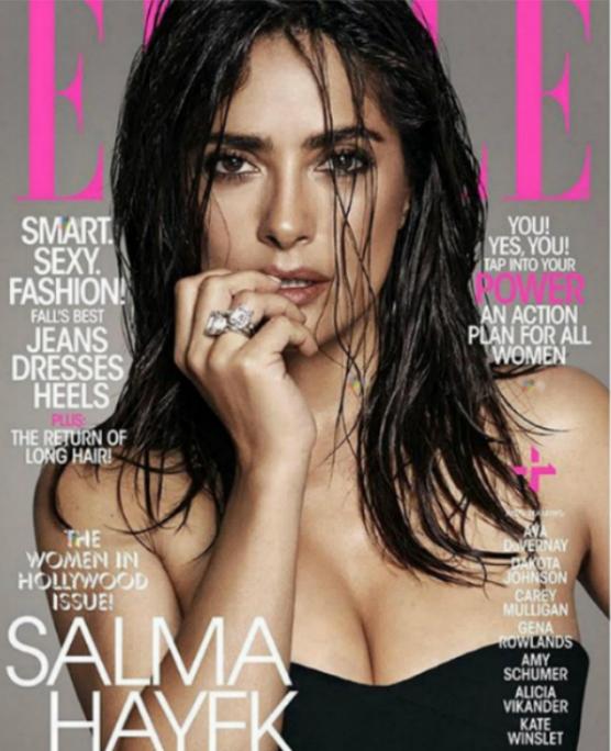 Zuhanyból kilépve ilyen Salma Hayek
