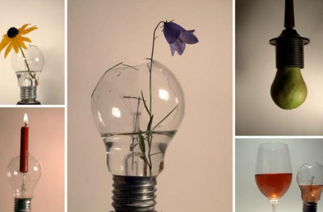 A rossz villanykörtét vázaként is újrahasznosíthatod