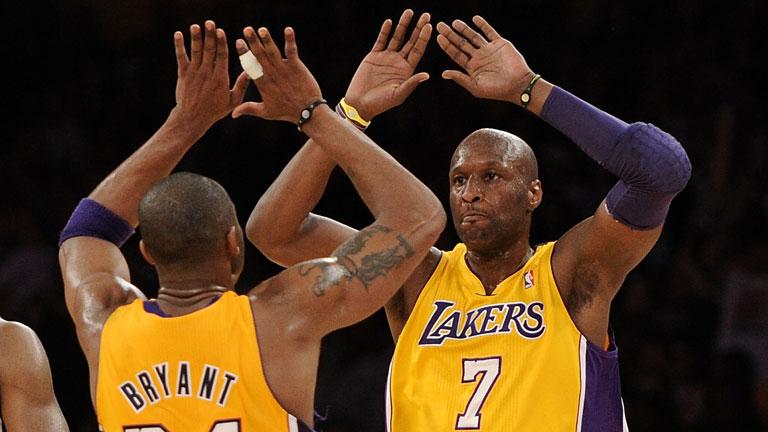 Pacsi Kobe Bryanttel a Lakers színeiben, a siker csúcsán