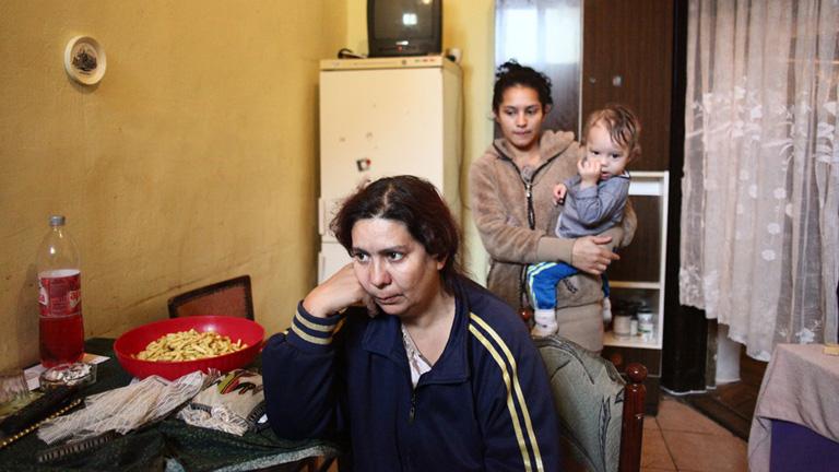 Izabella lányával, unokájával