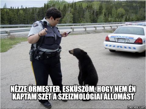 Az alaszkai rendőrség igazoltatja a környéken lófráló, gyanús medvéket
