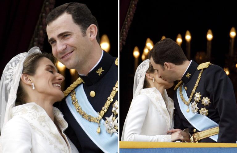 VI. Fülöp spanyol király és Letícia királyné
