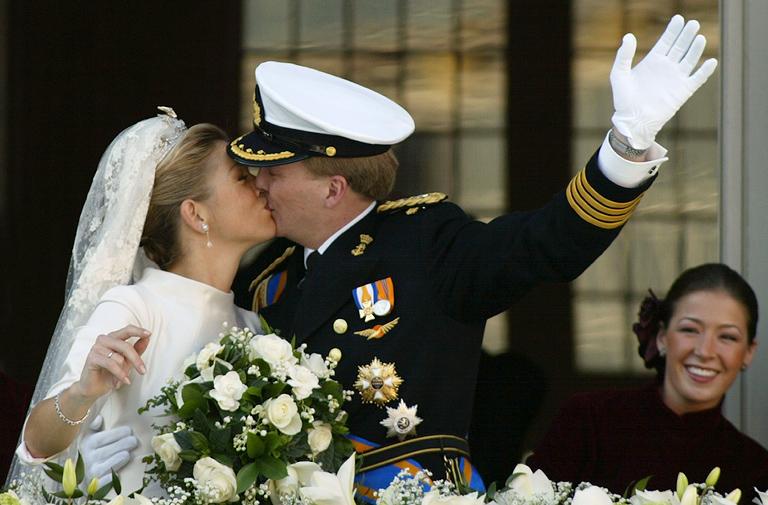 Vilmos Sándor holland király és Maxima királyné