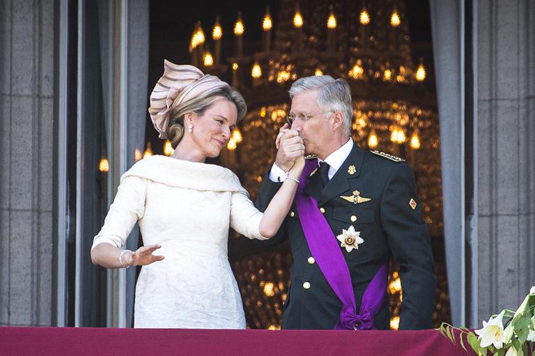Fülöp belga király és Matild királyné