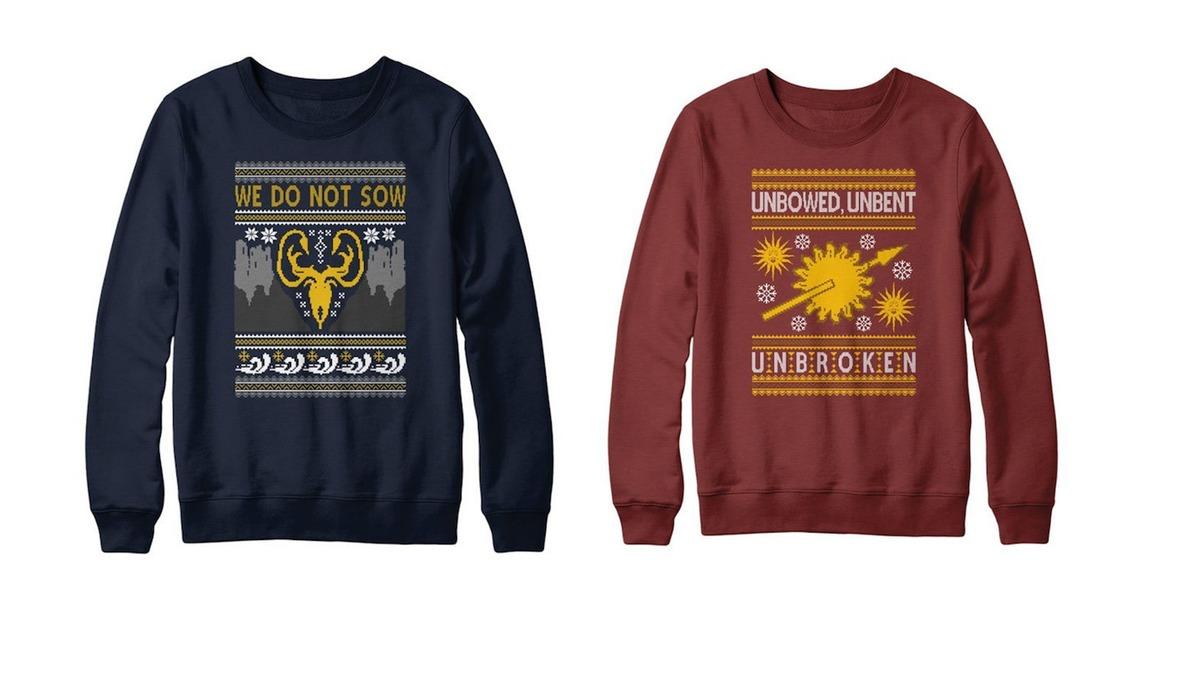 Itt vannak a Trónok harca karácsonyi pulcsik