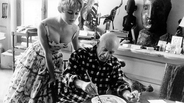 1956-ban Picasso stúdiójában