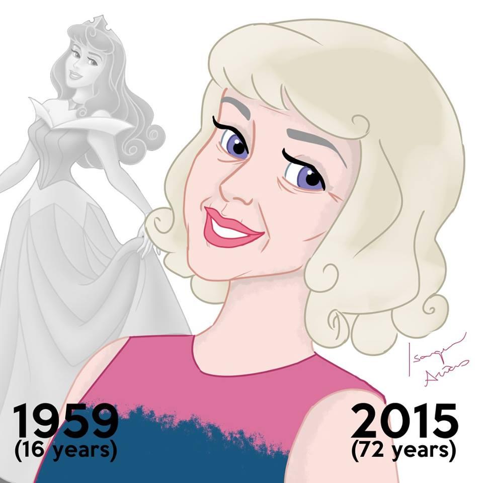 Milyen lenne, ha a Disney-hősnők is öregednének? Ilyen.