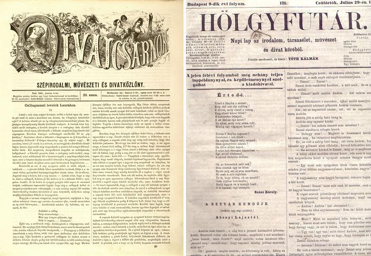 A Hölgyfutár és a Divatcsarnok c. lap címlapja