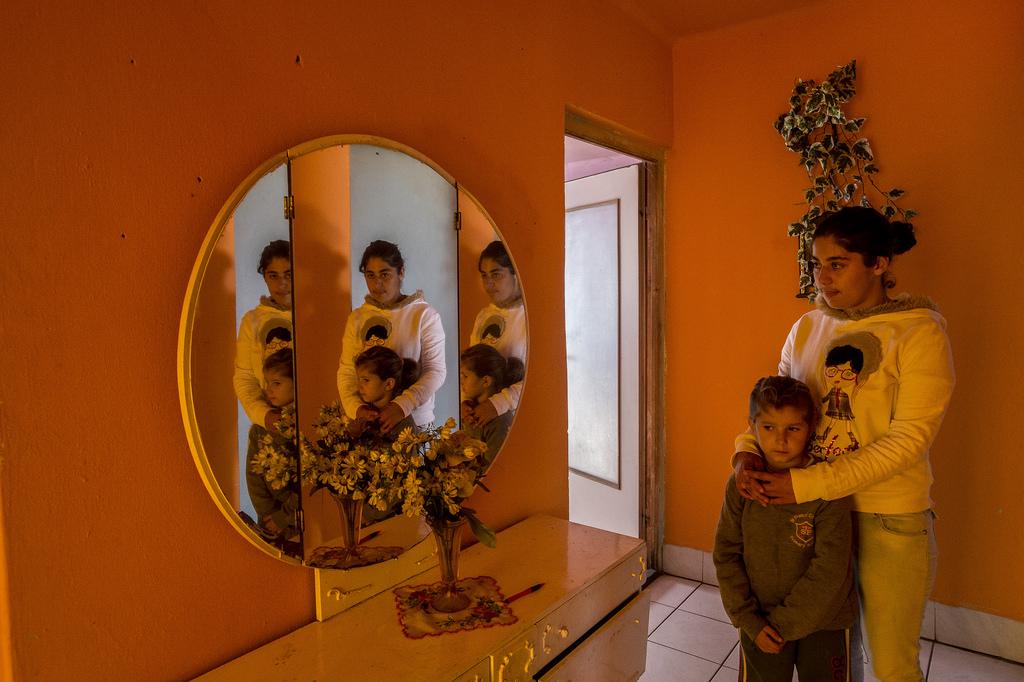 Juhász Anita a 22 ezer forintos szociális segélyből és a családi pótlékból él Fotó: Hajdú D. András