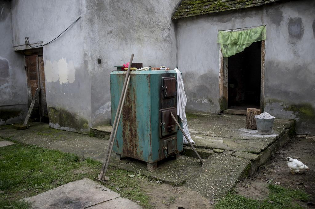 Kilyukadt a kazán, azóta nincs központi fűtés Fotó: Hajdú D. András