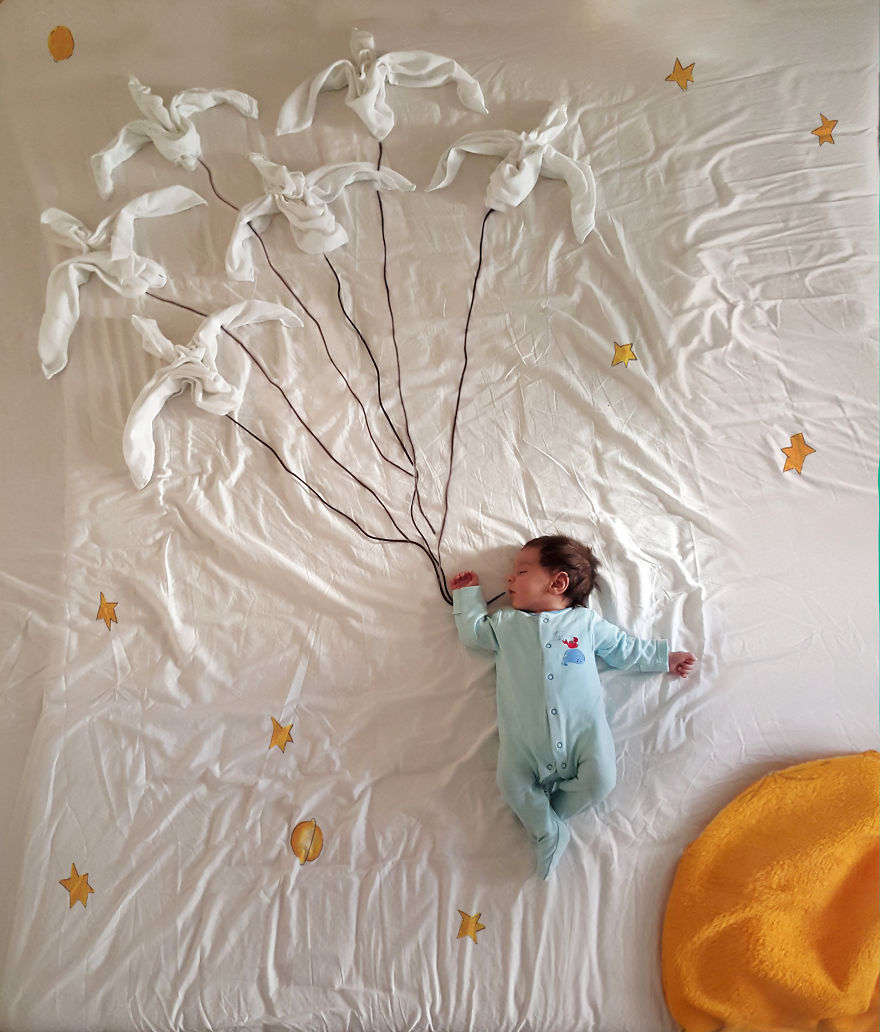 Kisbaba álomvilágban - tüneményes fotósorozat