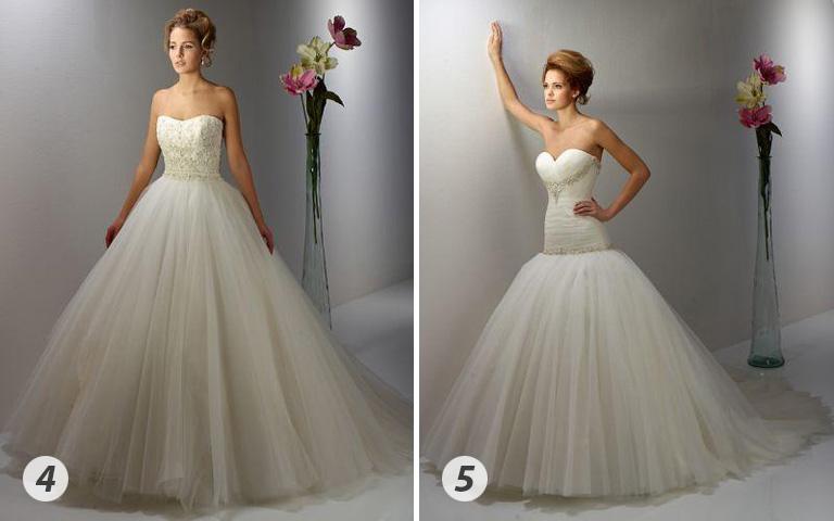 4 A hagyományos princesz-ruha a legtöbb alakon jól mutat. (Igen Esküvői Ruhaszalon)