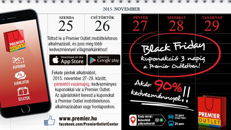 A Premier Outletben három napig tart a Fekete Péntek!