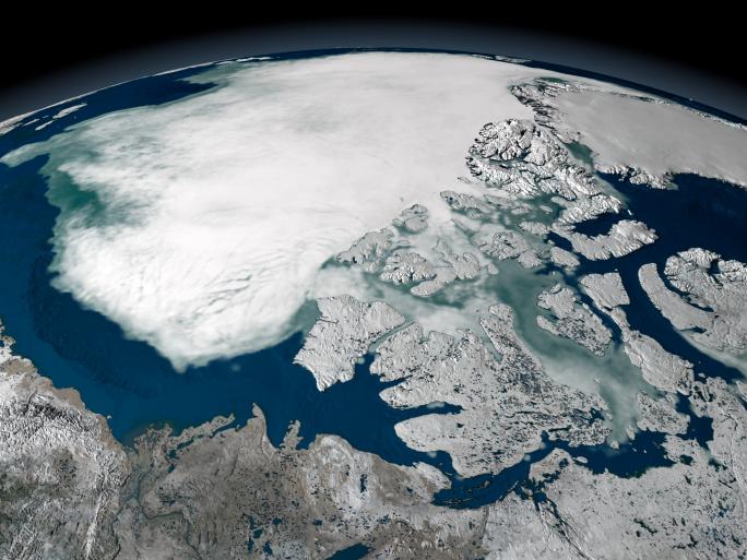 A Jeges-tenger Észak-Amerika felett